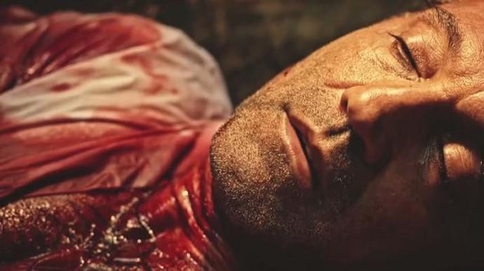 Santo dos Anjos ferido (Foto: TV Globo)