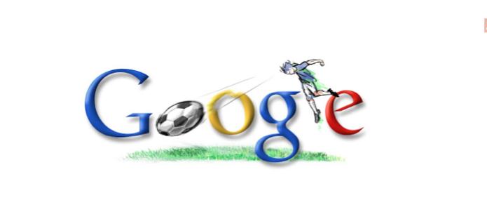 Doodle da Copa do Mundo de 2006 para a Itália; cada paíse recebeu um com a camisa de seu time (Foto: Reprodução/Google)