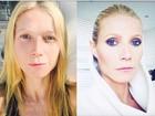 Gwyneth Paltrow mostra transformação antes e depois de make