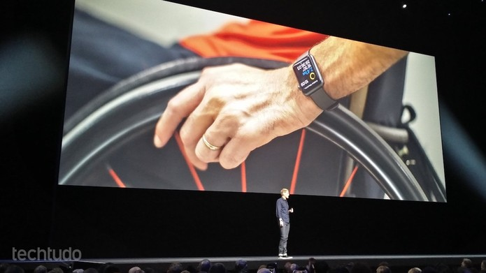 Apple aprimorou sensores para que cadeirantes usem Apple Watch (Foto: Fabrício Vitorino/TechTudo)
