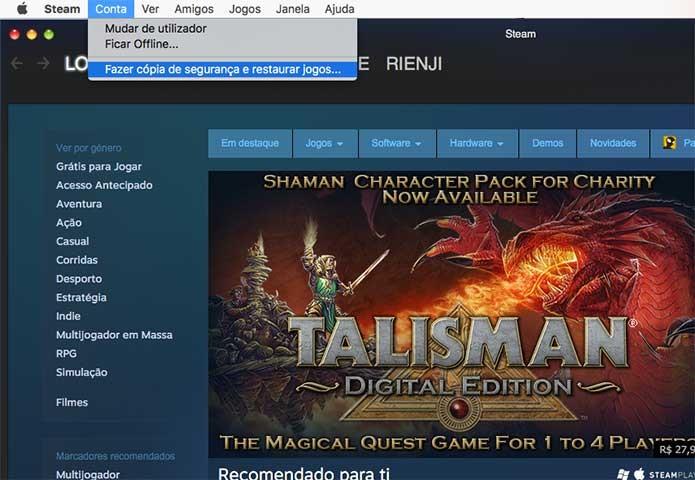 Faça cópia do jogo do Steam (Foto: Reprodução/Felipe Vinha)