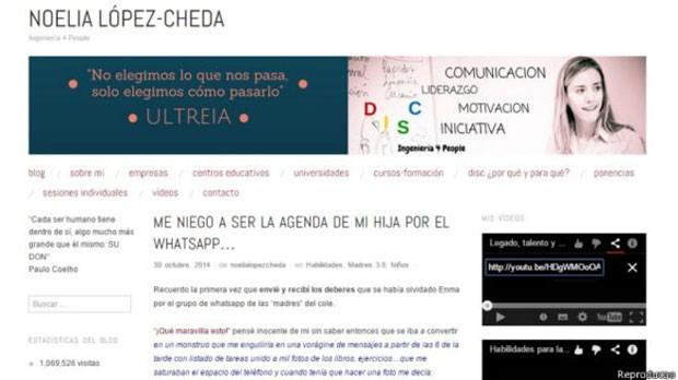 O blog de Noelia Lopez-Cheda já recebeu mais de 1 milhão de visitas (Foto: Reprodução/BBC)