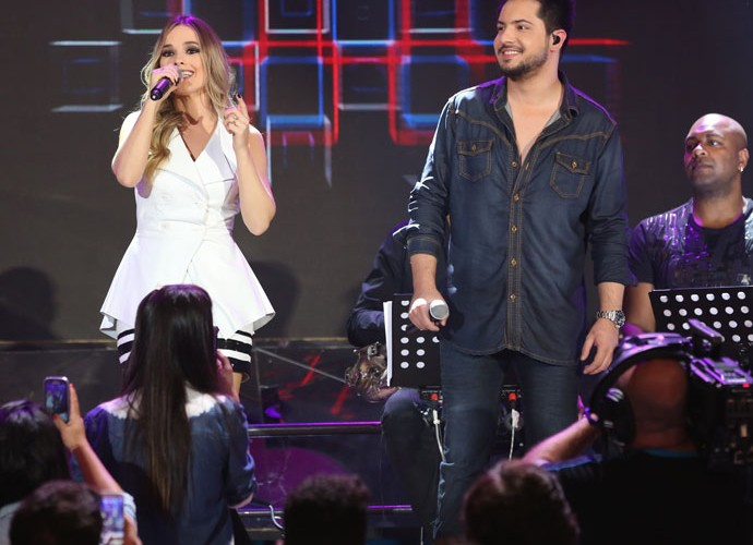 Thaeme & Thiago participam da gravação do programa Altas Horas (Foto: Carol Caminha/Gshow)
