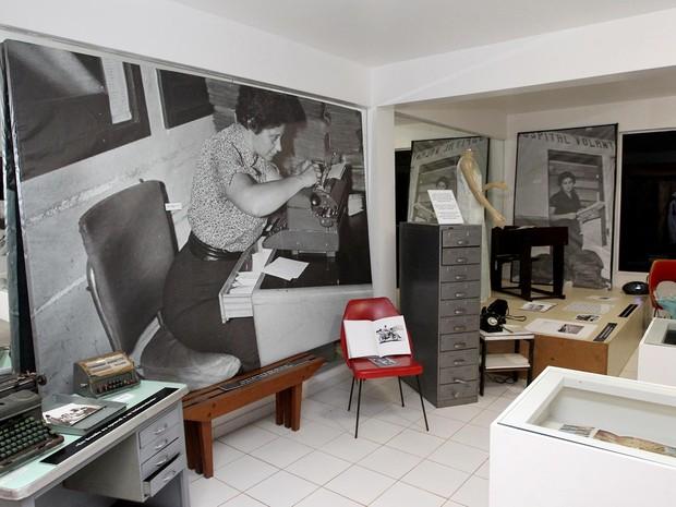 Espaço com a exposição Memórias femininas, na residência oficial do governador do DF (Foto: Toninho Tavares/Agência Brasília)