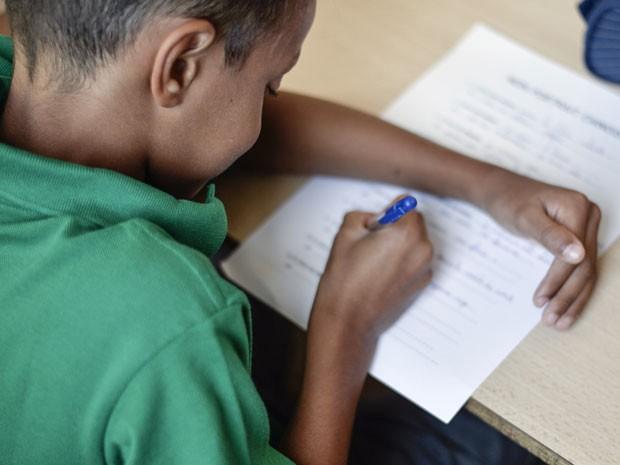 sala de aula, educação, professor, redação (Foto: Fred Dufour/AFP)