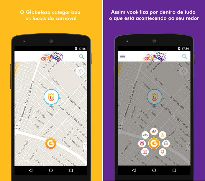 Globeleza é um app que mostra a programação do carnaval 2015 (Foto: Divulgação)