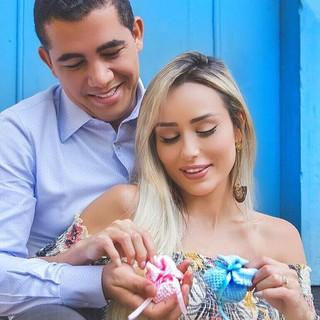 Letícia Santiago com o marido Miguel (Foto: Reprodução/Instagram)