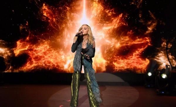 """Madonna cantou """"4 minutes"""", """"La Isla Bonita"""", """"Ray of Light"""" e """"Ghosttown"""" no evento  (Foto: Reprodução/ Instagram)"""