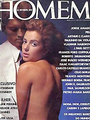 Livia Mund na capa da revista em agosto de 1975 (Foto: Reprodução)