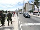 Forças Armadas patrulham as ruas de Natal neste sábado (21); veja fotos