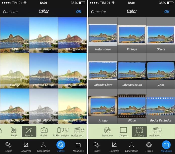 Câmera + possui vários recursos, filtros e molduras (Foto: Reprodução/Juliana Pixinine)