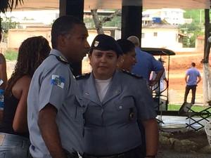 Alessandra  Carvalhaes, comandante da UPP da Cidade de Deus (Foto: Matheus Rodrigues/G1)