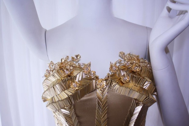 Vestido que Fernanda Lima usará no desfile de Samuel Cirnansck em parceria com a Mãos da Terra, em Paris (Foto: Divulgação)