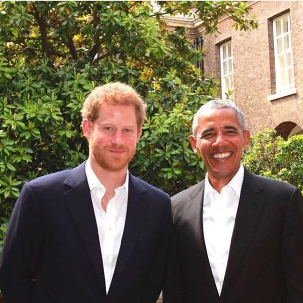 Principe Harry e Barack Obama (Foto: Reprodução/Instagram)