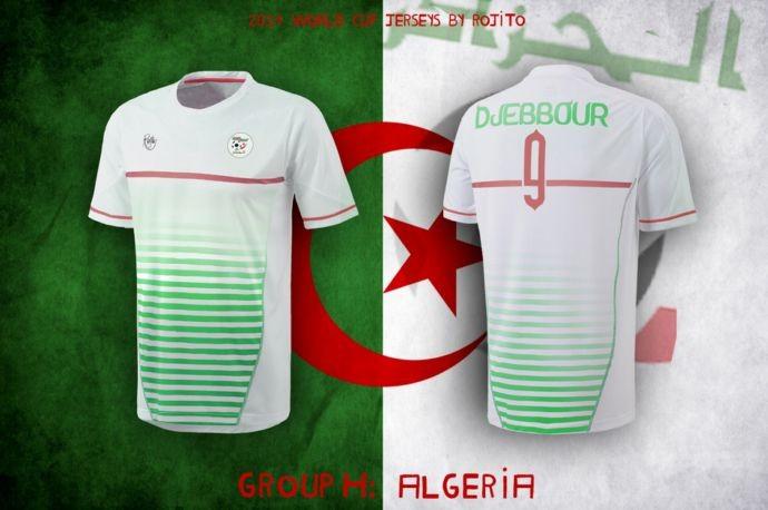 Blog da Copa - design camisa da Argélia