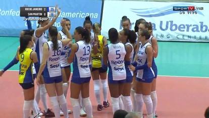 Melhores momentos: Rio de Janeiro 3 x 0 San Martin pelo Sul-Americano feminino de vôlei
