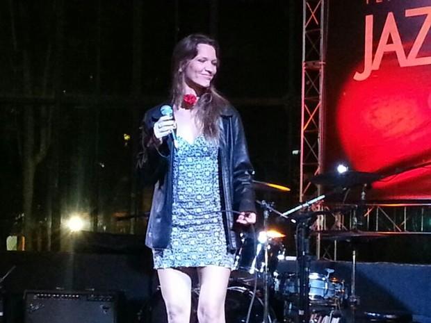 A americana Rodica Weitzman no festival de jazz e blues de Petrópolis (Foto: Fernanda Soares)