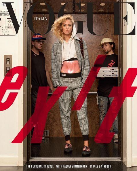Raquel Zimmermann na Vogue Itália de novembro (Foto: Inez and Vinoodh/Reprodução/Instagram)