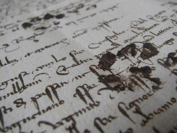 Felino parece ter pisado na tinta usada pelo escritor e depois caminhado sobre o livro (Foto: Reprodução)