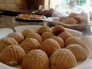Doces sírios vendidos na Damascus: recheios incluem tâmara, damasco, nozes, pistache, ameixa, caju e goiaba (Foto: Flávia Mantovani/G1)
