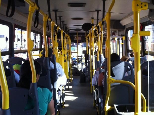 Ônibus que saiu da Estrutural chegou vazio na Rodoviária do Plano Piloto  (Foto: Lucas Salomão/G1)