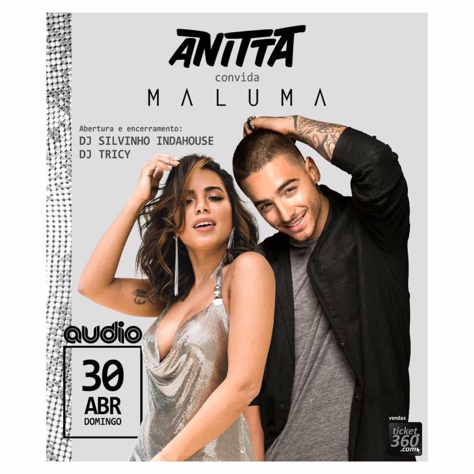 O banner do show de Anitta e Maluma em So Paulo, no dia 30 de abril (Foto: Divulgao)