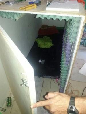 Polícia encontra jovem sequestrada dentro de caixa lacrada em Mineiros, Goiás  (Foto: Divulgação/Polícia Civil)