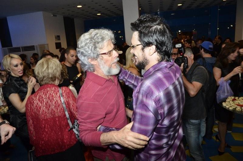 José Mayer e Lúcio Mauro Filho (Foto: Fábio Cordeiro/ Revista QUEM)
