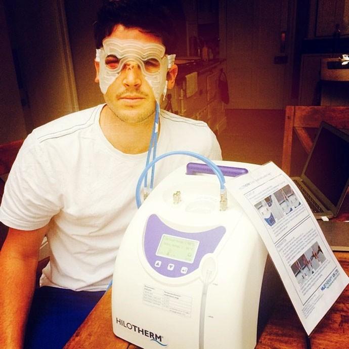 jogador de criquete após cirurgia (Foto: Reprodução / Instagram )