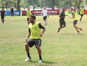 Ibson no treino do Flamengo como titular (Foto: Janir Júnior / Globoesporte.com)