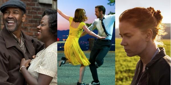 'Cercas', 'La La Land' e 'A Chegada': indicados ao Oscar (Foto: Reprodução)