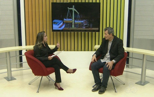 jornalista Cleide Freires conversou com o auditor fiscal, Ediraldo Homobono (Foto: Bom Dia Amazônia)