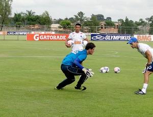 Rafael no treino do Cruzeiro (Foto: Valeska Silva / Globoesporte.com)