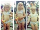 Angélica mostra fotos curtindo carnaval na infância