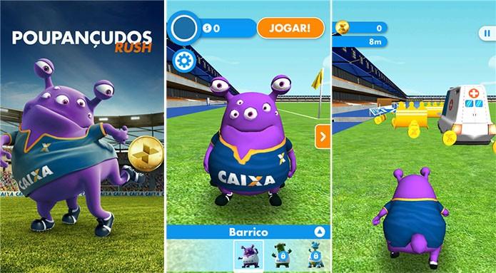 Poupançudos Rush é um game brasileiro no qual usuários devem alcançar a maior distância (Foto: Divulgação/Windows Phone Store)