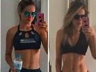 Monique Alfradique mostra resultado de 30 dias de dieta e malhação