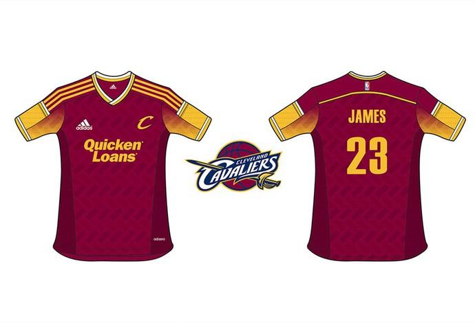28f12a38b9b89 NBA camisa Cleveland Cavaliers (Foto  Divulgação) Modelo desenvolvido ...
