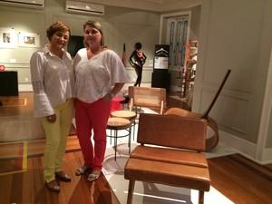 As estudantes de arquitetura Daiane Grijó e Mônica Costa aprovaram (Foto: Bruno Rodrigues/G1)