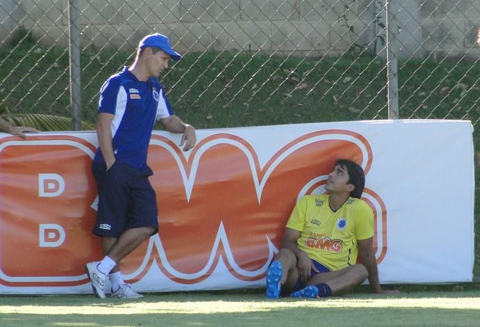 Marcelo Moreno treino Cruzeiro (Foto: Tarcísio Badaró)