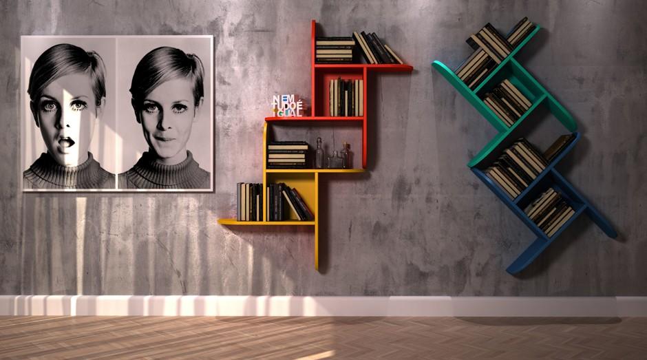 Prateleiras de livros da Hometeka, marketplace de móveis e artigos de decoração (Foto: Divulgação)