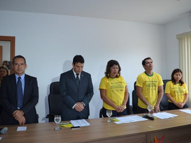 Ação faz parte da campanha nacional Defensor Público - Transformando a causa de um no benefício de todos (Foto: Neidiana Oliveira/G1)