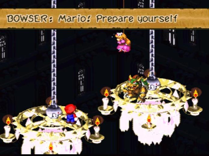 Bowser muda de lado em Super Mario RPG (Foto: Divulgação)