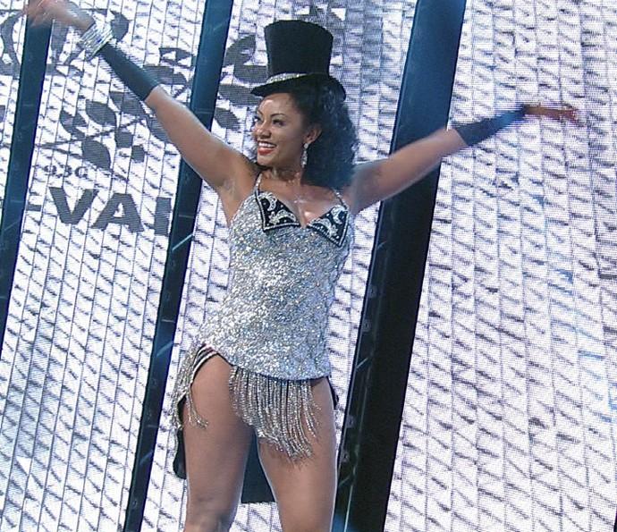 Camila Silva é a rainha de bateria da Vai-Vai no Carnaval 2016 (Foto: Divulgação TV Globo)
