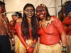 Índios participam de desfile no São Paulo Fashion Week