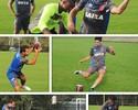 Atletas do Vasco trocam bola redonda pela oval, e Nenê vence desafio
