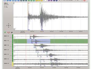 Sismógrafo da universidade mostra a intensidade do tremor em São José da Tapera. (Foto: Reprodução/ Observatório Sismológico da UnB)
