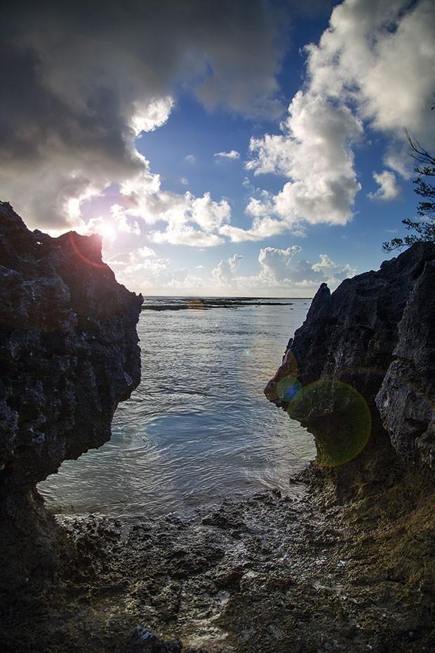 Praia na vila de Tuherahera (Foto: Rogério Voltan)