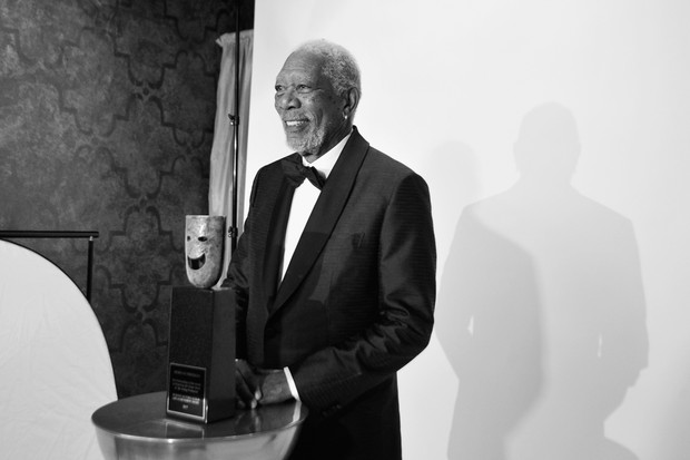 Morgan Freeman, o grande homenageado do Sag Awards 2018 (Foto: getty images)