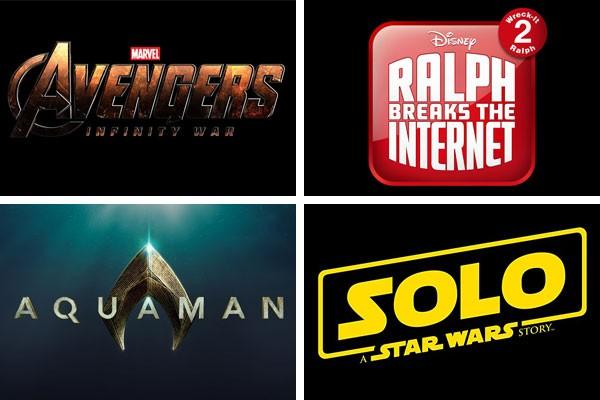 Vingadores - Guerra Infinita, Detona Ralph 2: Ralph Quebra a Internet, Aquaman e Han Solo: Uma História Star Wars são alguns dos longas que prometem lotar as salas de cinema em 2018 (Foto: Divulgação)