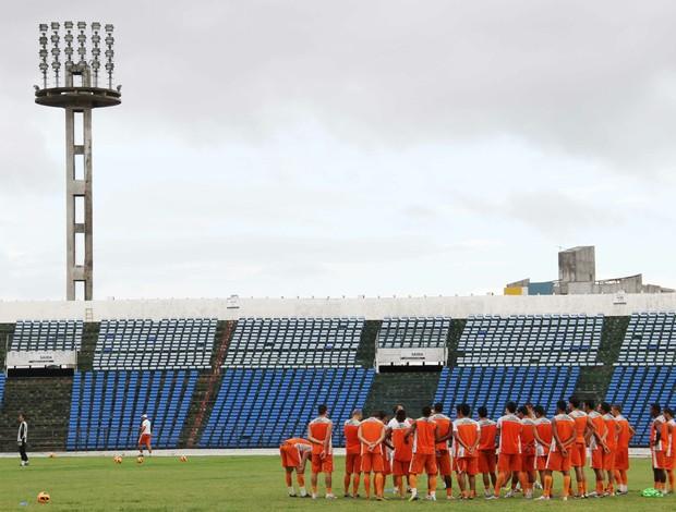 campinense, treino no amigão (Foto: Magnus Menezes / Jornal da Paraíba)